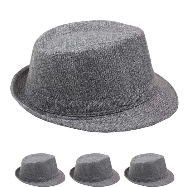 Trending Beach Party Gray Adult Trilby Fedora Hat (015)