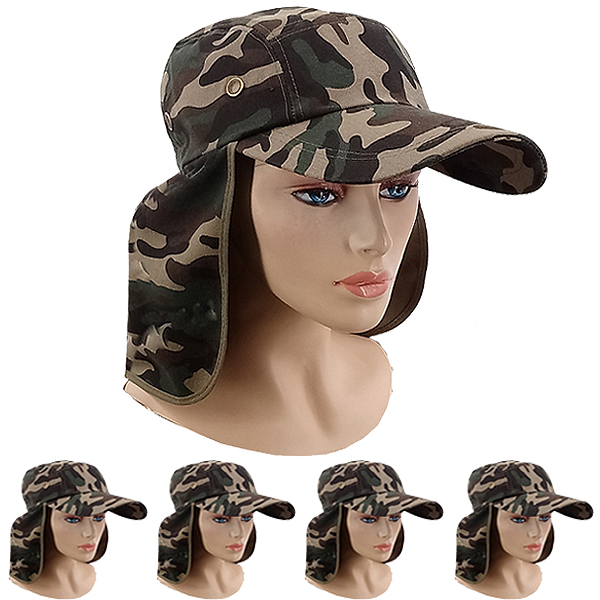 Neck Flap Baseball Cap Style Camouflage Sun Hat (026)
