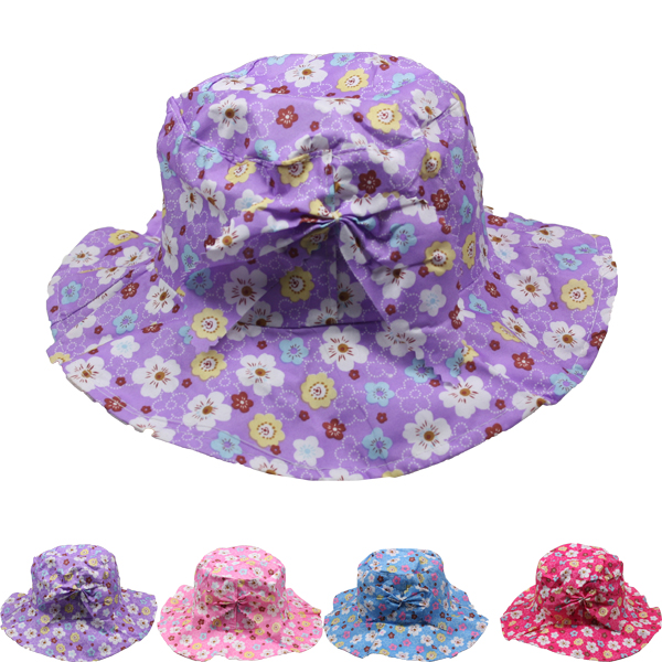 Soft & Floral Baby Girl Sun Protection Hat (027)