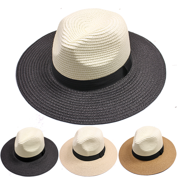 Man Dual Color Western Style Fedora Hat (058)