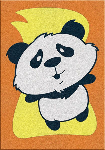 Sand 062 Mini Panda Sand Painting Card (11.75X16.5 cm)