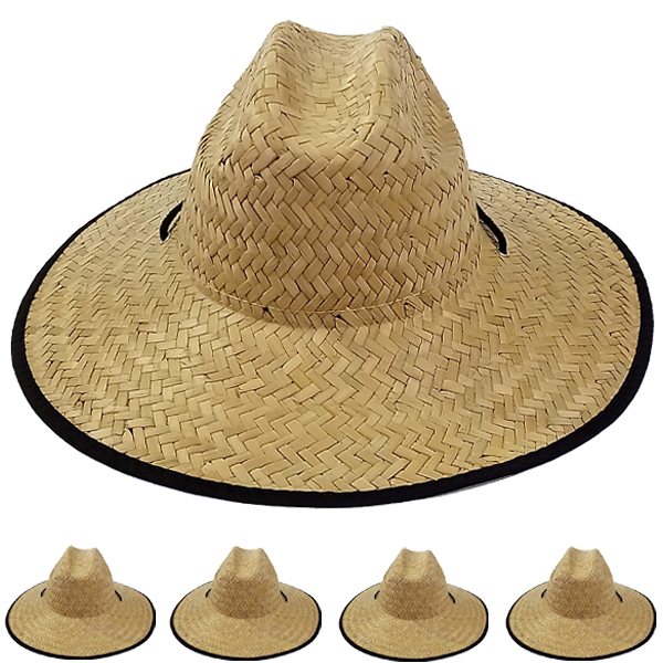Wide Brim Raffia Straw Lightweight Man Sun Hat (0077)