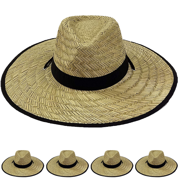 Wide Brim Bamboo Straw Lightweight Man Sun Hat (080)
