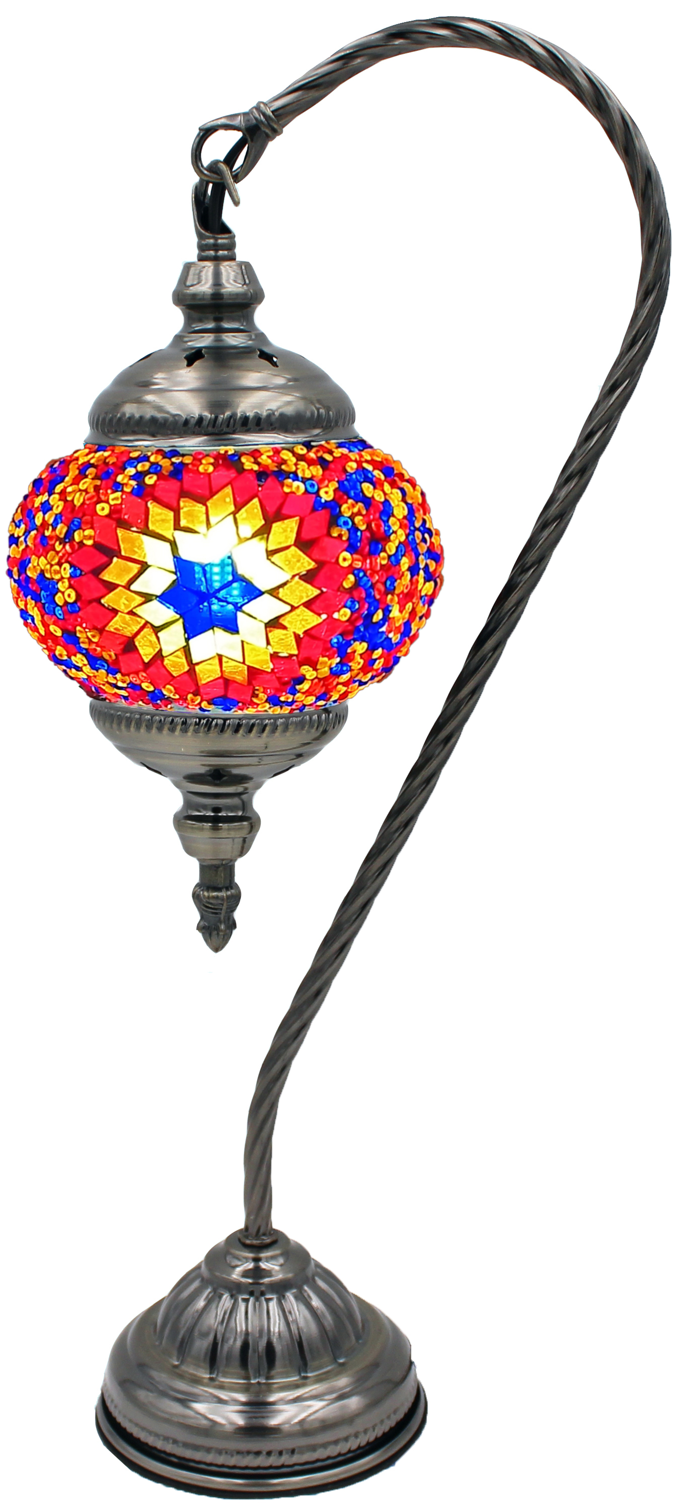 Hand Made Mosaic Glass Lamp - Without Bulb (101)