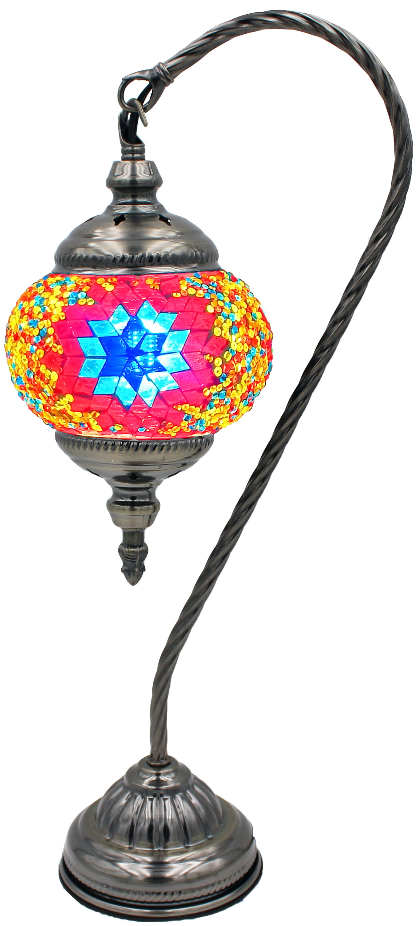 Hand Made Mosaic Glass Lamp - Without Bulb (113)