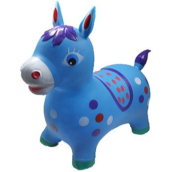 BLN 103 INFLATABLE JUMPING BLUE HORSE WITHOUT LIGHT AND SOUND