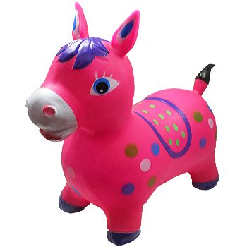 BLN 104 INFLATABLE JUMPING PINK HORSE WITHOUT LIGHT AND SOUND