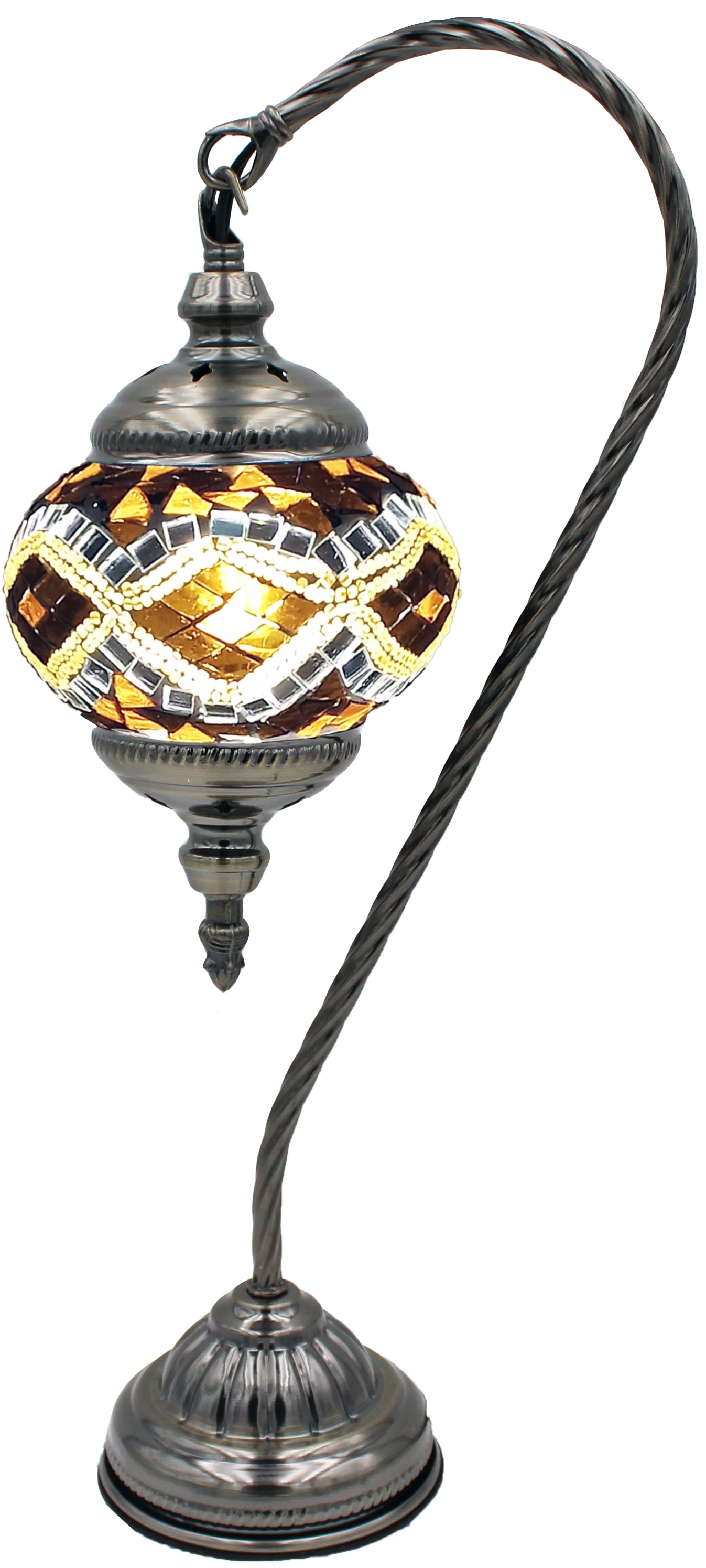 Hand Made Mosaic Glass Lamp - Without Bulb (115)