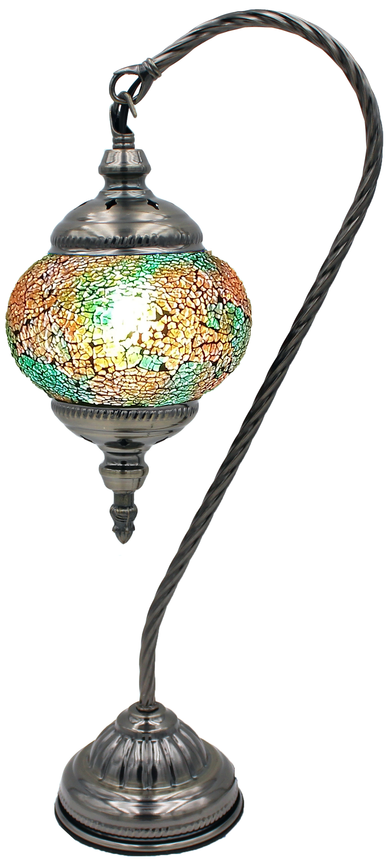 Hand Made Mosaic Glass Lamp - Without Bulb (117)