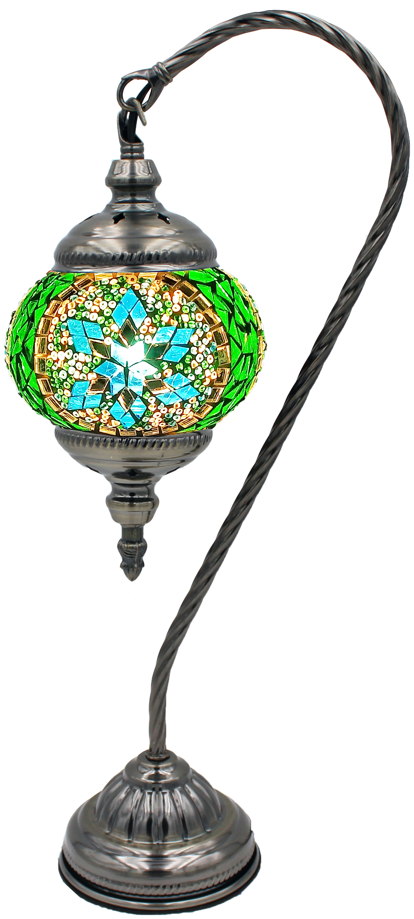 MOSAIC GLASS LAMP 129 ( WITHOUT BULB )