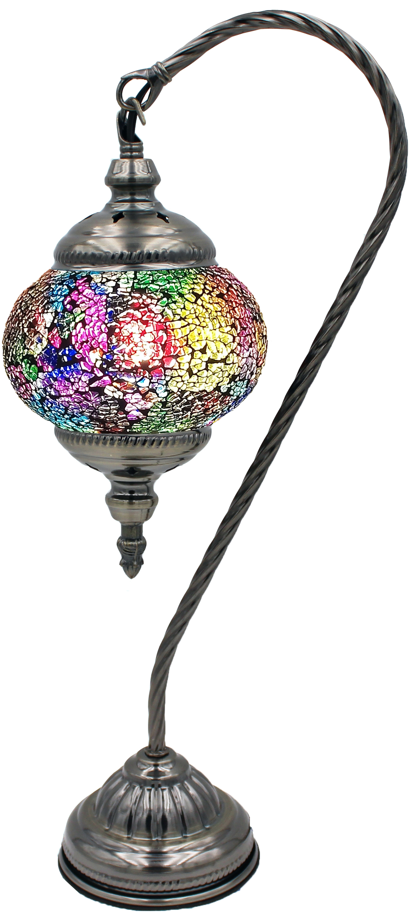 MOSAIC GLASS LAMP 131 ( WITHOUT BULB )