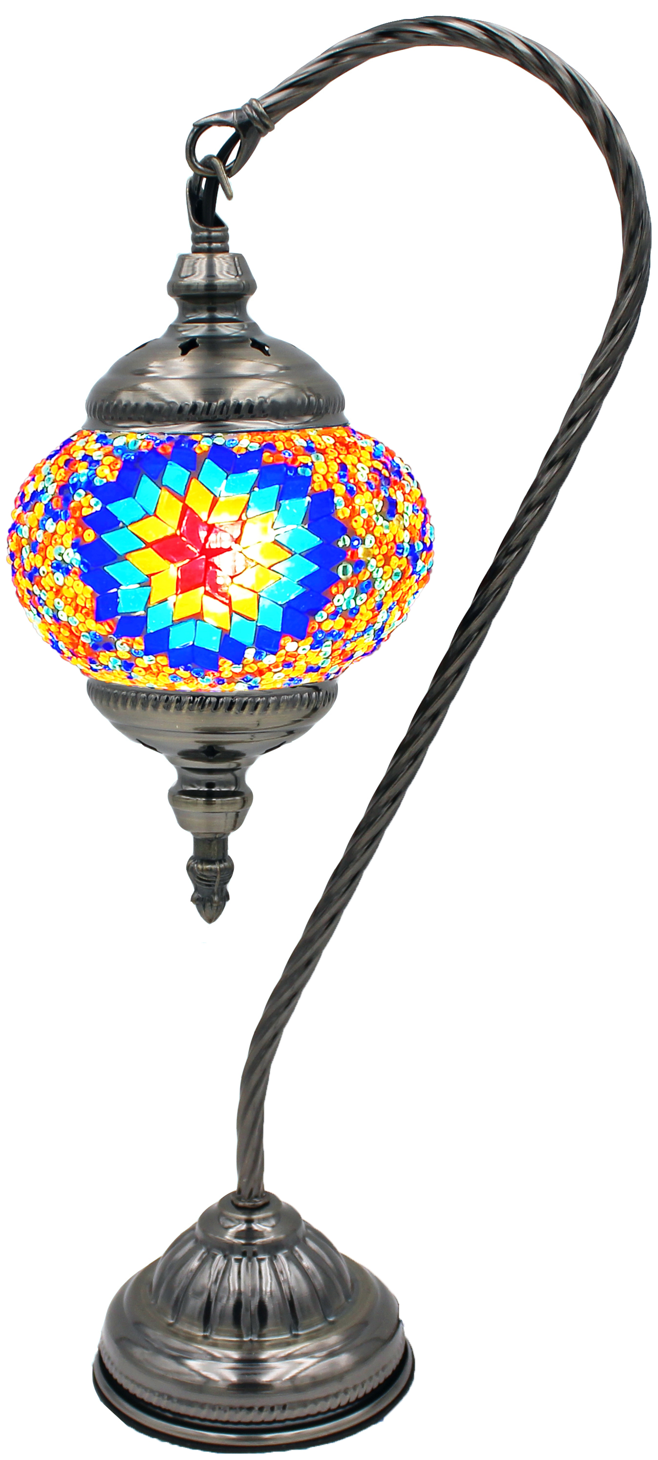 MOSAIC GLASS LAMP 132 ( WITHOUT BULB )