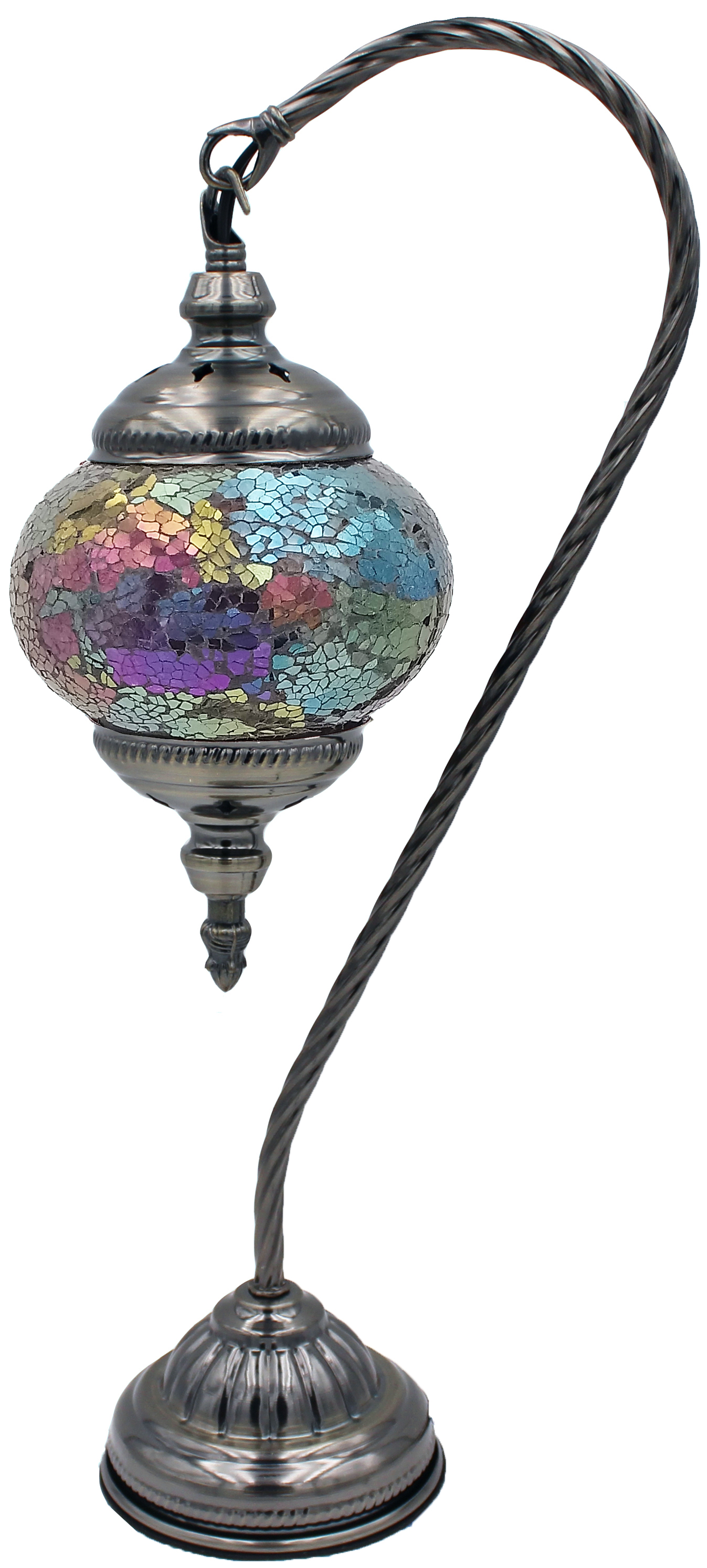 MOSAIC GLASS LAMP 130 ( WITHOUT BULB )