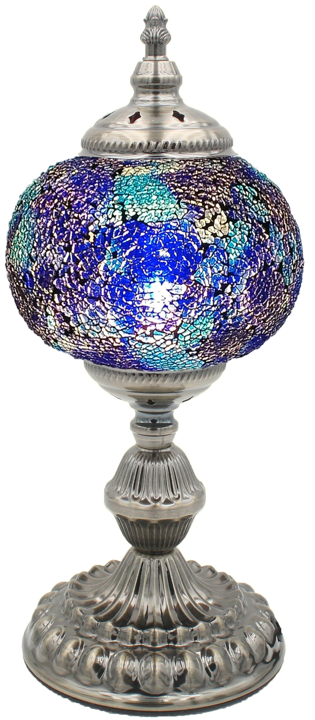 Hand Made Mosaic Glass Lamp - Without Bulb (211)