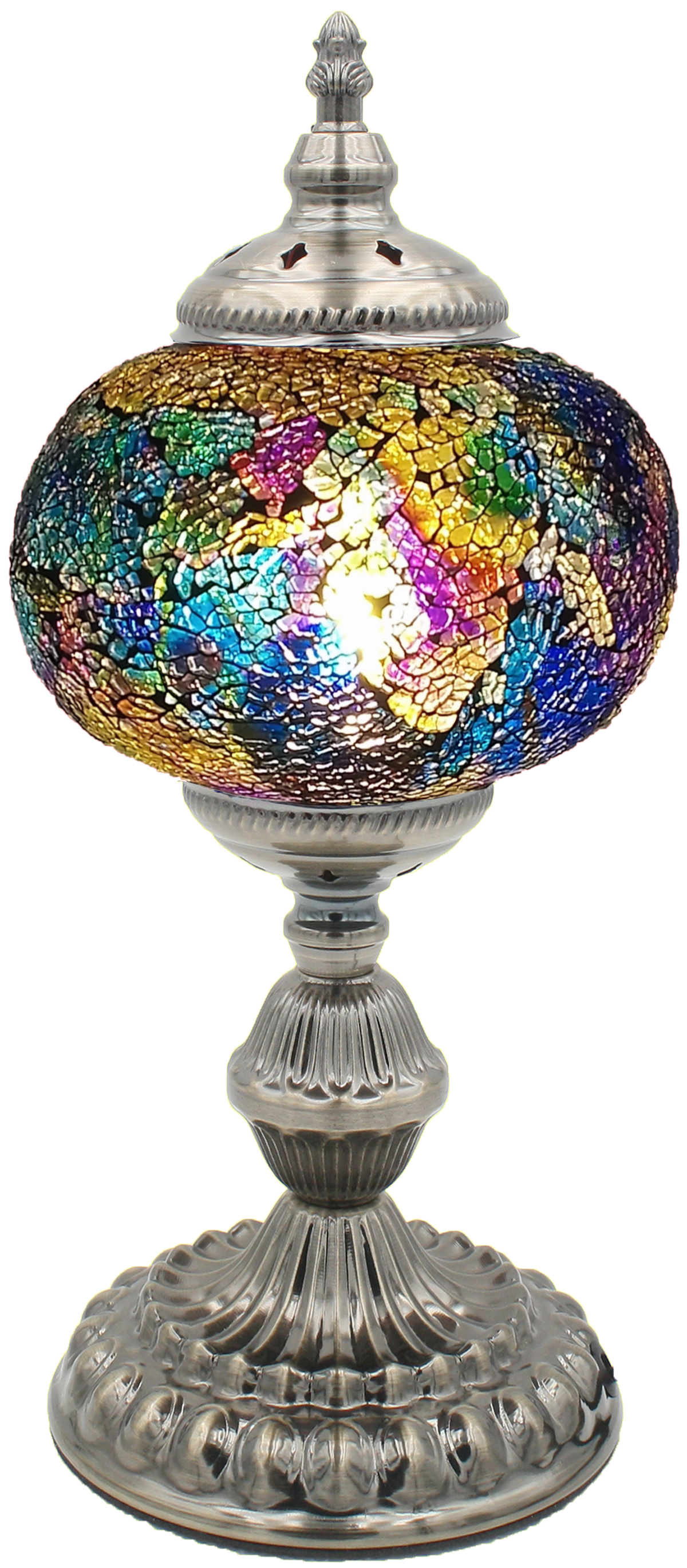 Hand Made Mosaic Glass Lamp - Without Bulb (213)