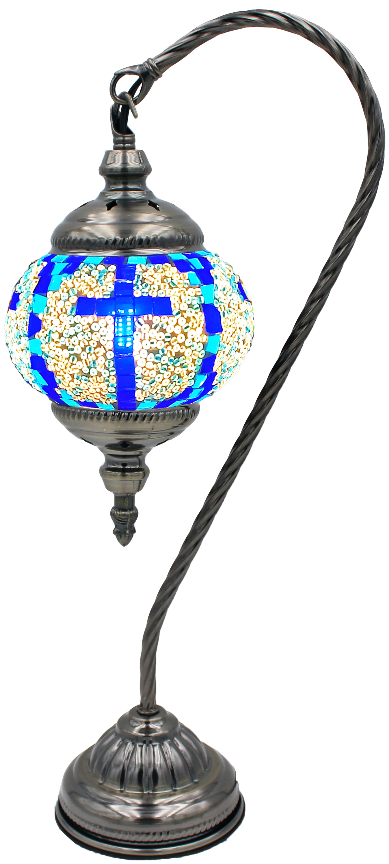 MOSAIC GLASS LAMP 137 ( WITHOUT BULB )