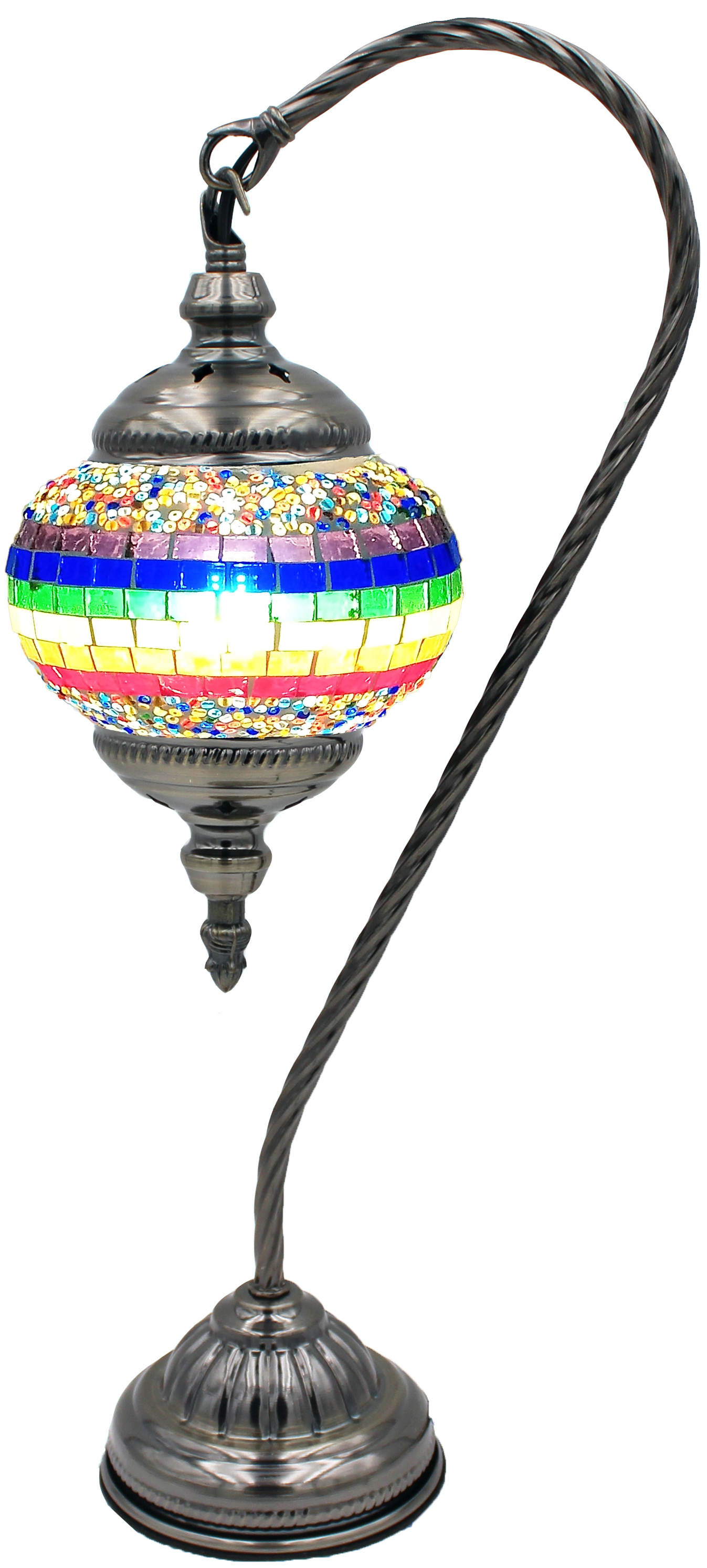 Hand Made Mosaic Glass Lamp - Without Bulb (139)