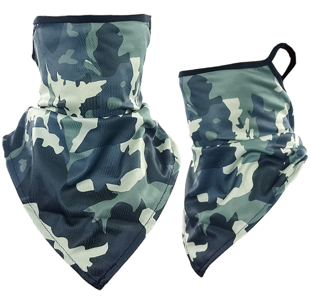 Camouflage Print Triangle Face Shield (213)