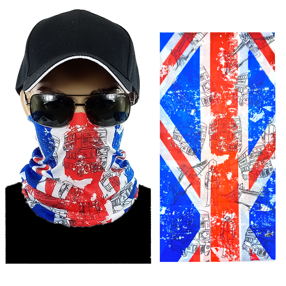 UK Flag Multi-function Seamless Tube Bandana (302)