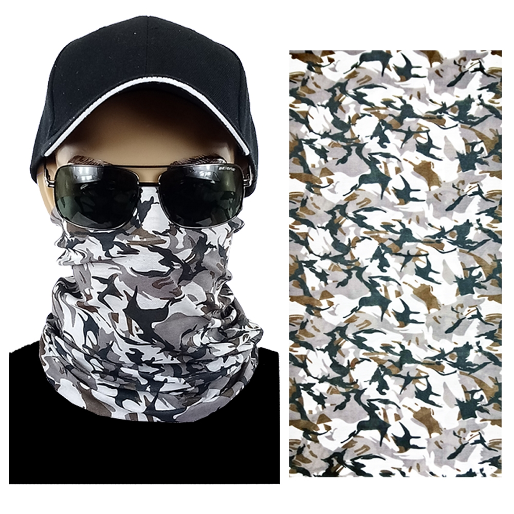 Light Gray Camouflage Multi-function Seamless Tube Bandana (305)