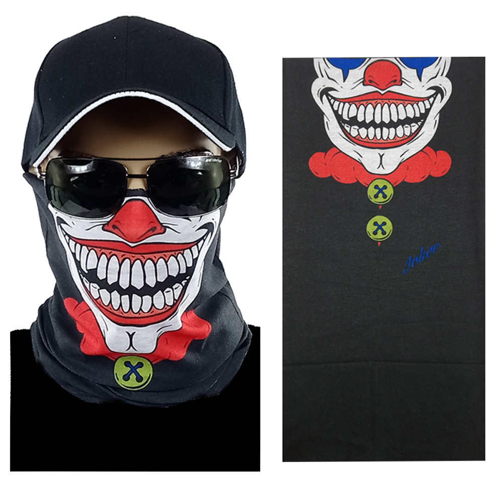 Smiling Clown Multi-function Seamless Tube Bandana (307)
