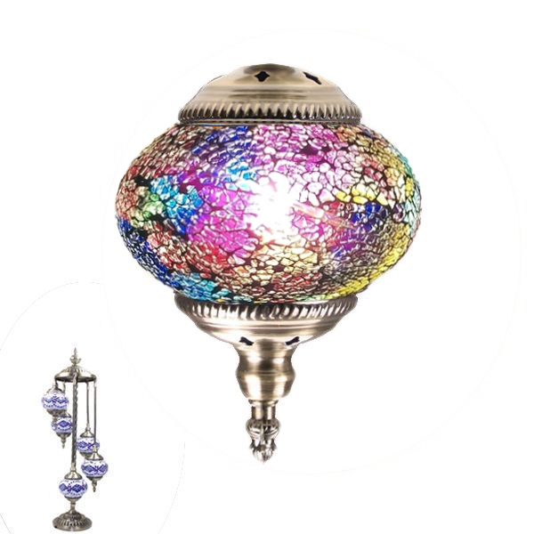 MOSAIC GLASS LAMP 382 ( 5 GLASS WITHOUT BULB )
