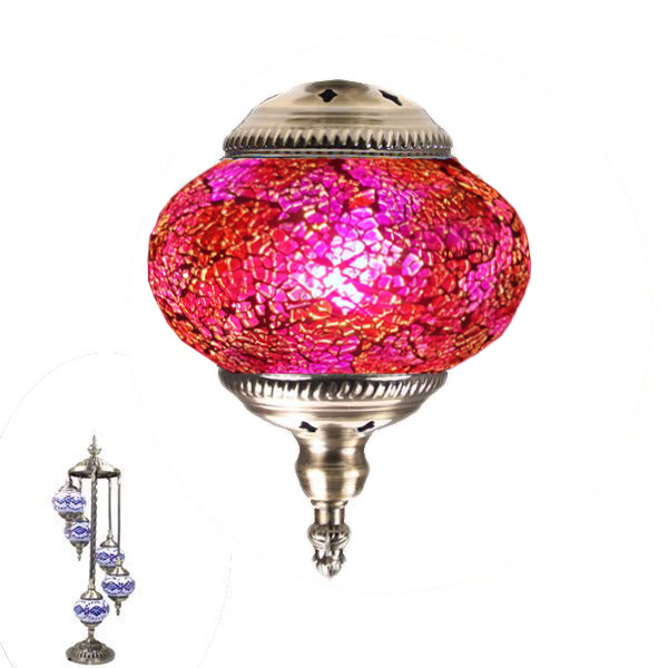 MOSAIC GLASS LAMP 384 ( 5 GLASS WITHOUT BULB )
