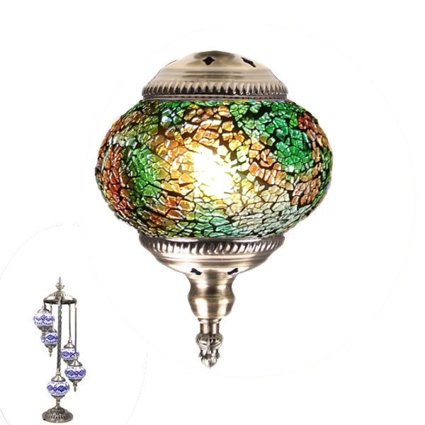 MOSAIC GLASS LAMP 385 ( 5 GLASS WITHOUT BULB )