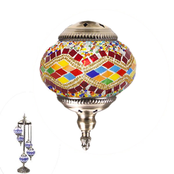 MOSAIC GLASS LAMP 387 ( 5 GLASS WITHOUT BULB )