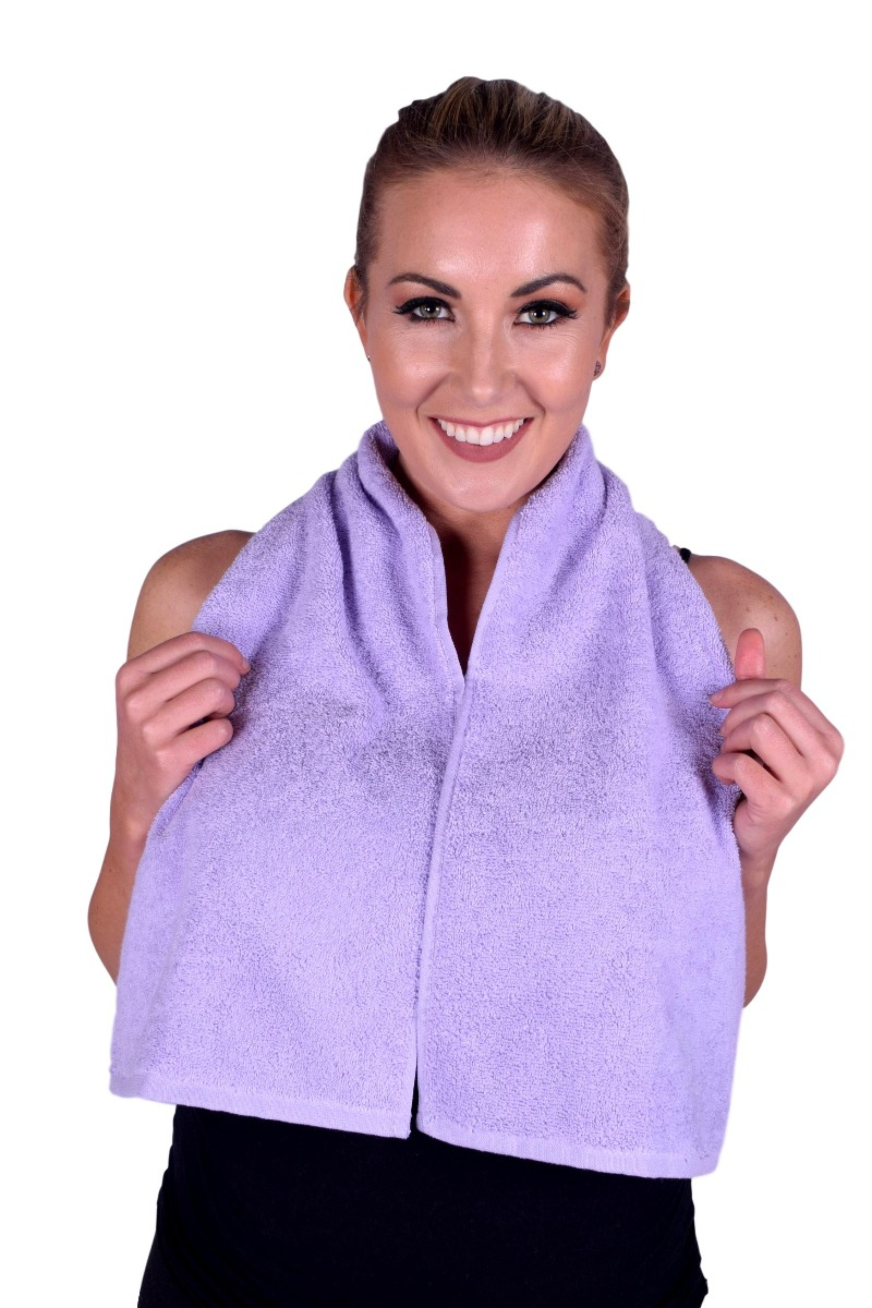 Lavender Terry Cotton Gym & Fitness Towel (6 pack) (075)