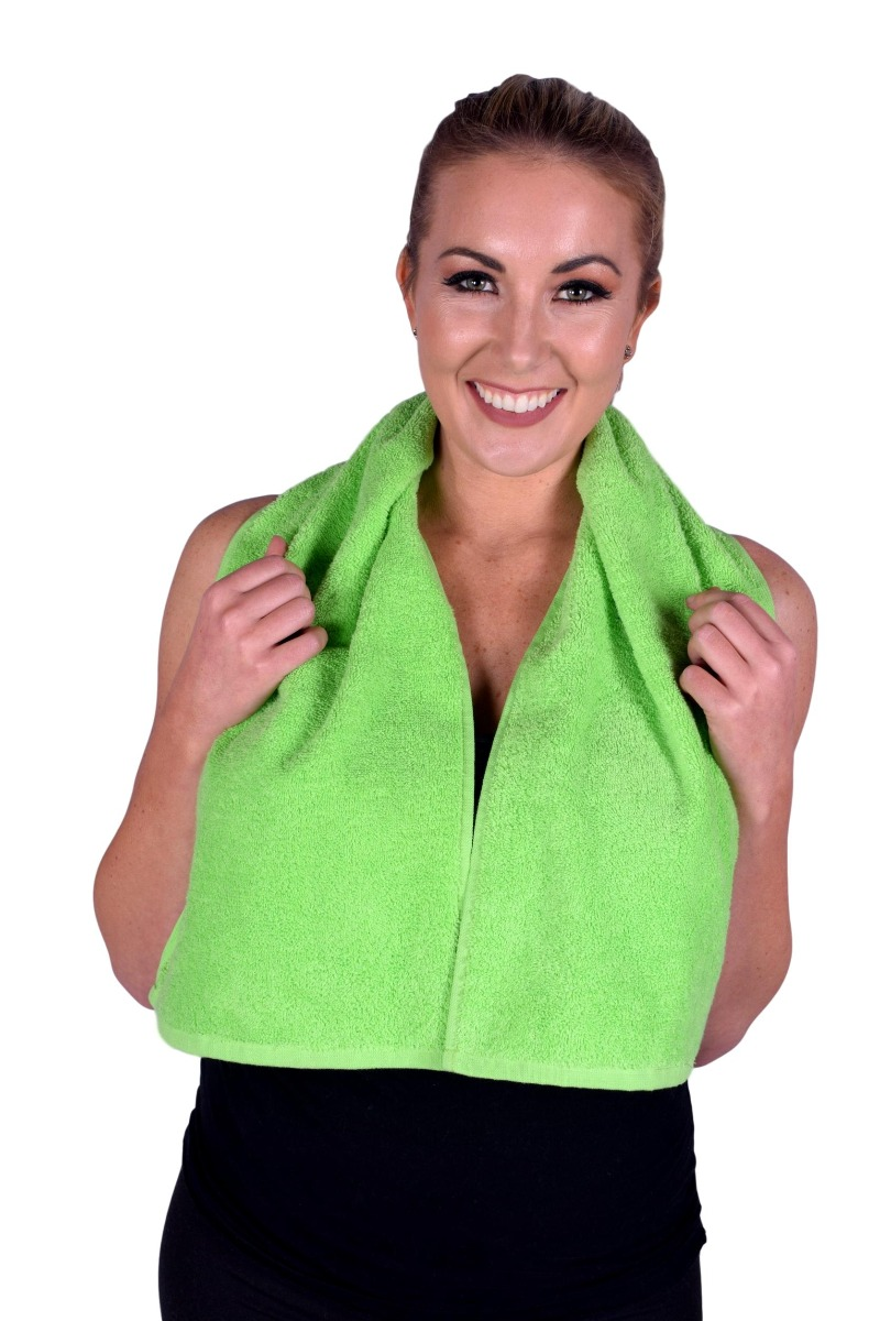 Lime Green Terry Cotton Gym & Fitness Towel (6 pack) (077)