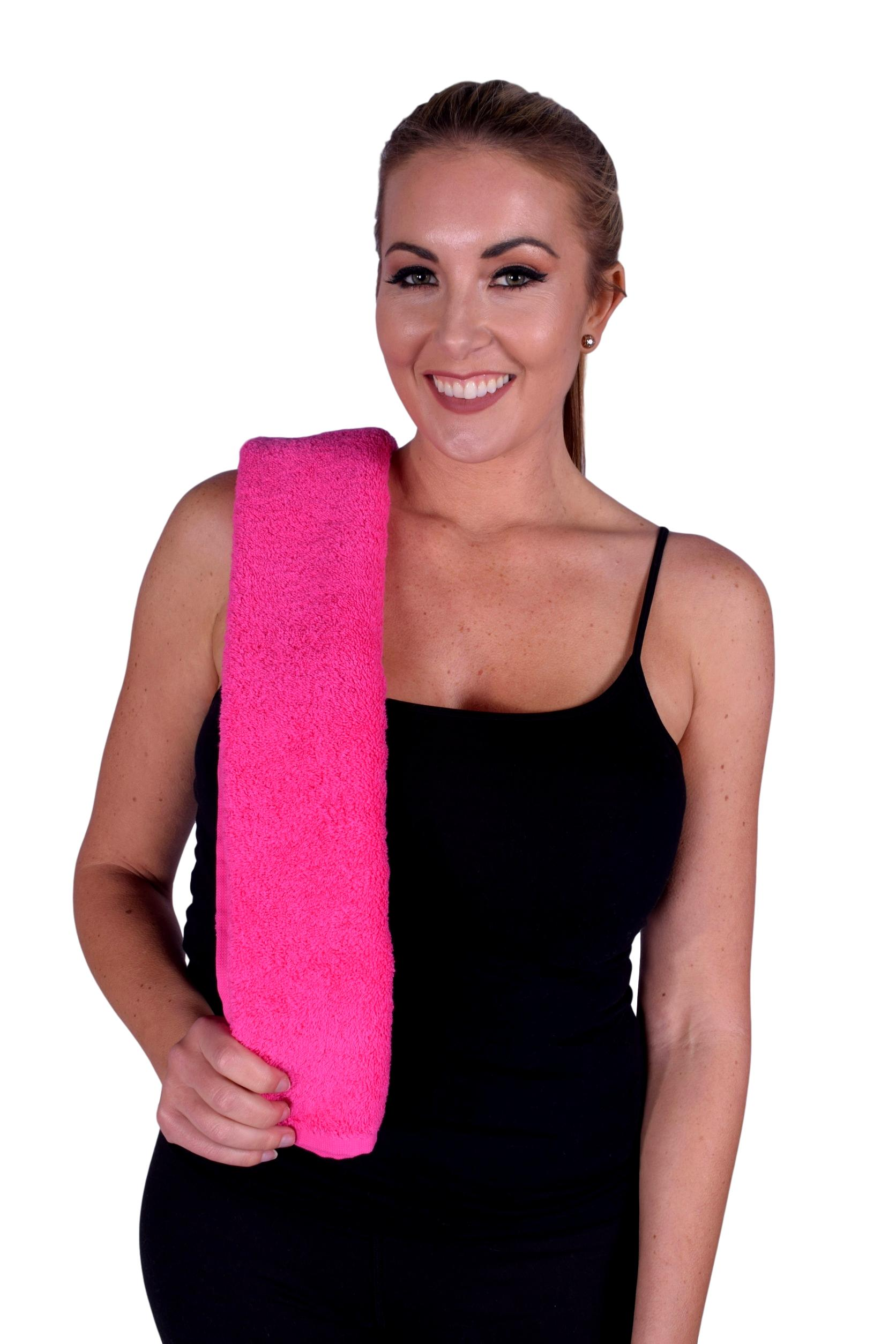 Towel 052 Hot Pink Color Hand Towel