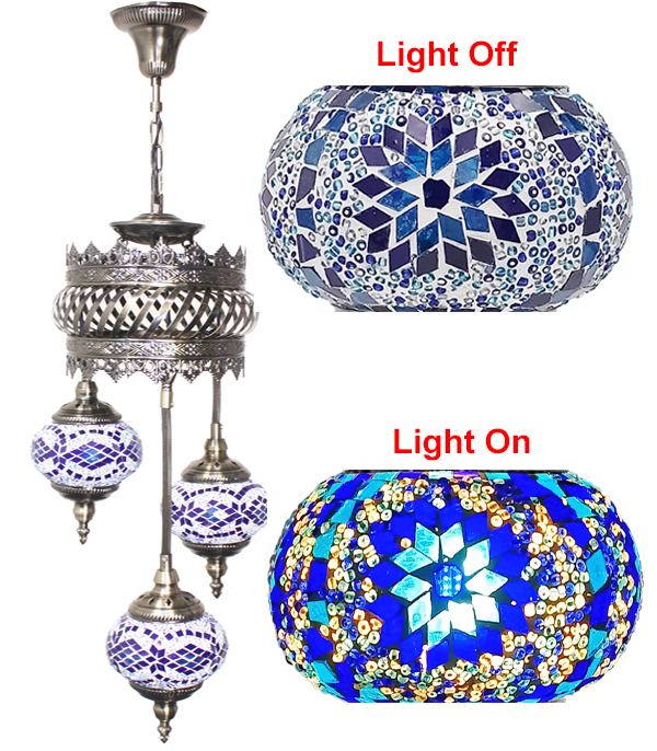 MOSAIC GLASS LAMP 604 ( WITHOUT BULB )