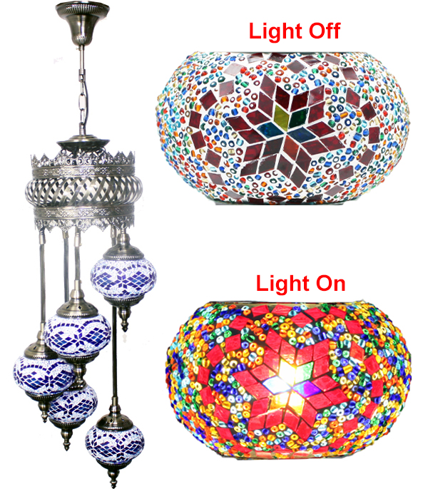 MOSAIC GLASS LAMP 617 ( WITHOUT BULB )