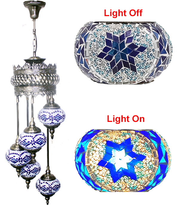 MOSAIC GLASS LAMP 618 ( WITHOUT BULB )