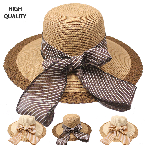 Elegant High-Quality Bow Ribbon Summer Hat (811)