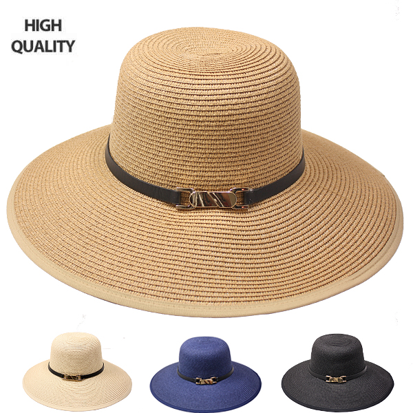 Elegant High-Quality Woman Summer Straw Hat (813)