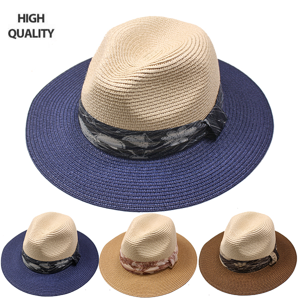 High-Quality Straw Woman Fedora Hat (824)
