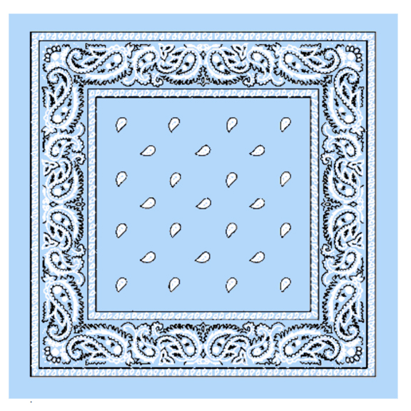 Sky Blue Paisley Printed Cotton Bandana (108)