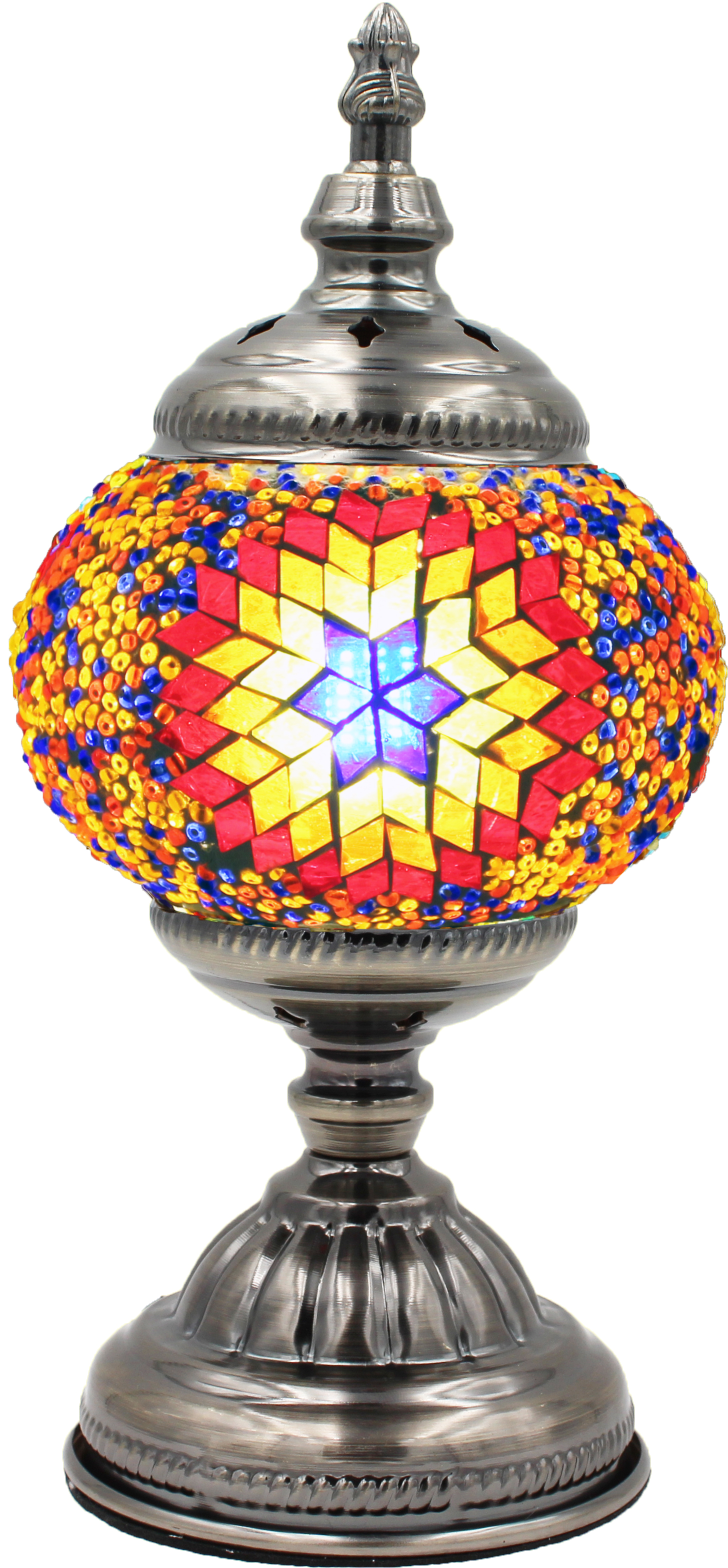 Hand Made Mosaic Glass Lamp - Without Bulb (002)