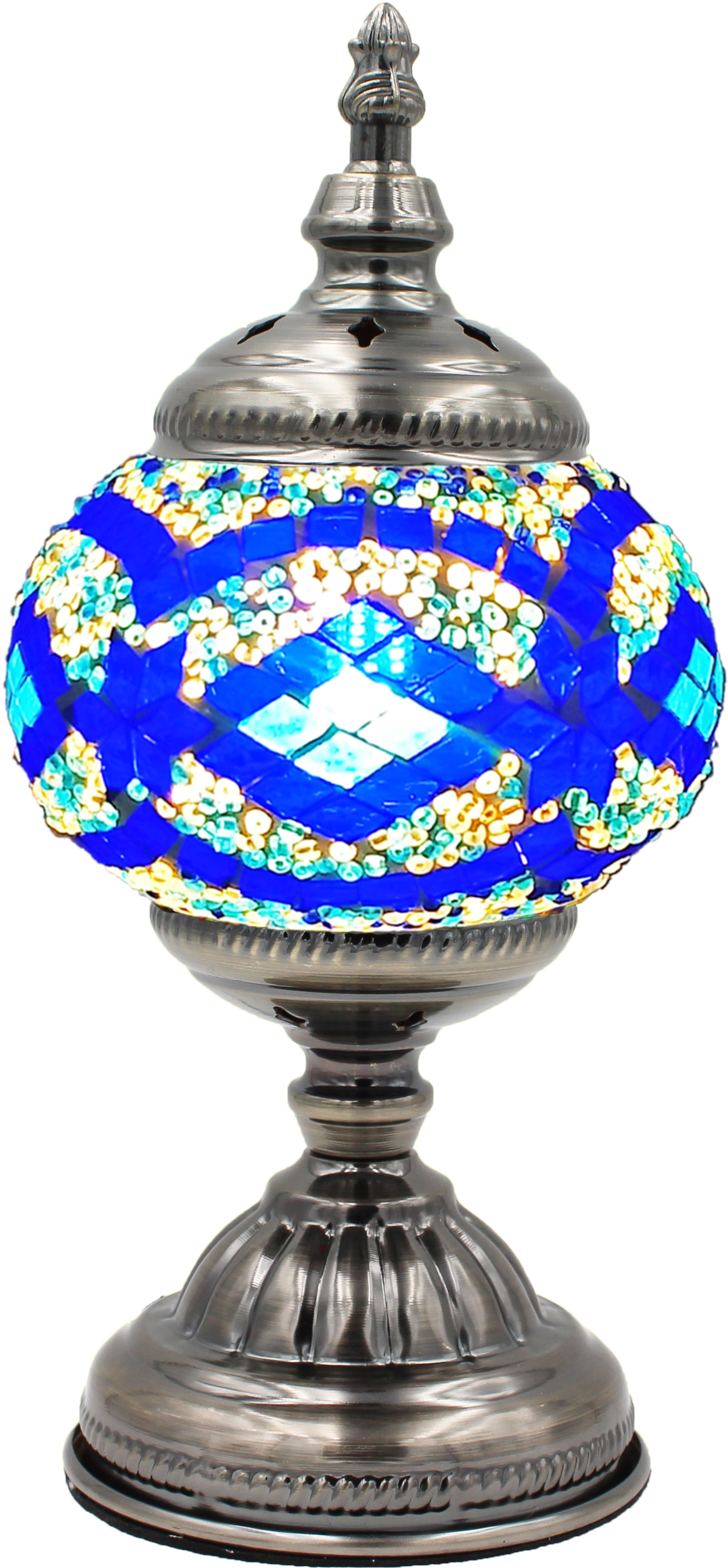 Hand Made Mosaic Glass Lamp - Without Bulb (009)