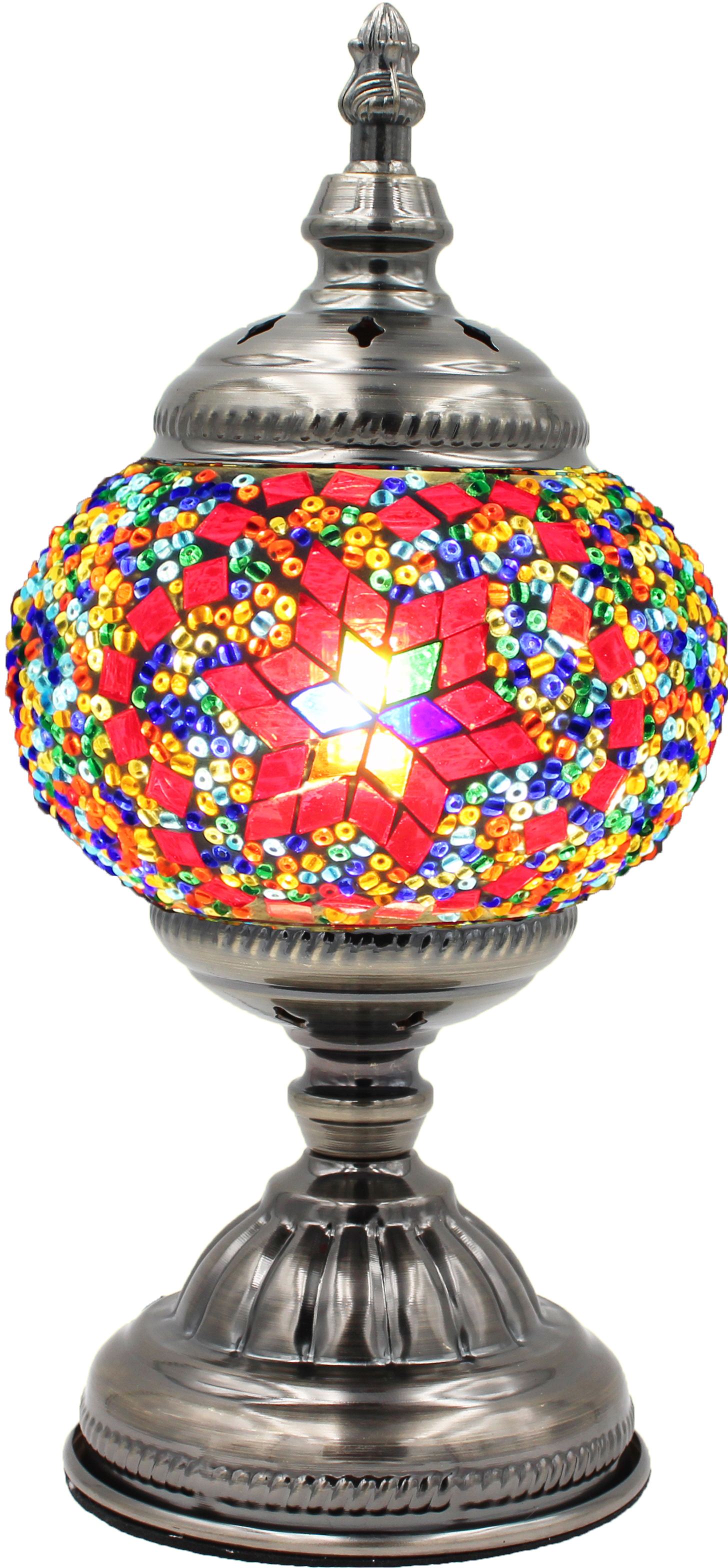 Hand Made Mosaic Glass Lamp - Without Bulb (013)