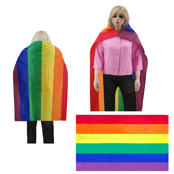 BESE 252 WEARABLE RAINBOW CAPE