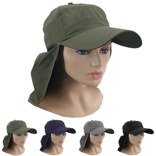 Men Neck Flap Wide Visor Baseball Style Sun Hat (029)