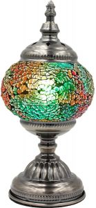 Hand Made Mosaic Glass Lamp - Without Bulb (038)