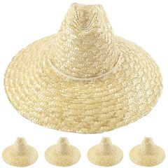 Natural Palm Straw Man Summer Hat (083)