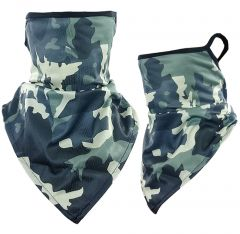 Camouflage Print Triangle Face Shield (213)-2