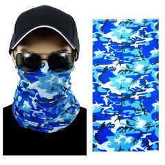 Blue Camouflage Multi-function Seamless Tube Bandana (306)