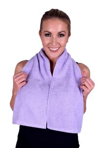 Towel 075 Lavender Terry Cotton Gym & Fitness Towel (6 PACK)
