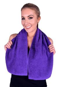 Towel 079 Purple Terry Cotton Gym & Fitness Towel (6 PACK)